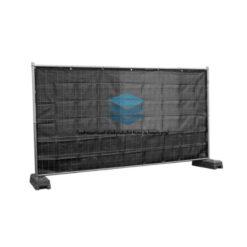 Zwart winddoorlatend bouwhekdoek 176x341cm 220gr