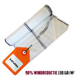 Wit steigernet 2.57x50m 130gr/m² 90% windreductie