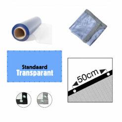 Transparant PVC zeil op maat gemaakt