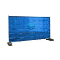 Blauw winddoorlatend bouwheknet 180x345cm 150gr