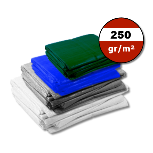 Dekzeil 250gr | Wit | Grijs | Blauw | Groen