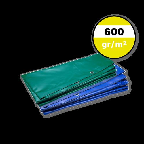 Dekzeil 600gr | PVC | Blauw | Groen