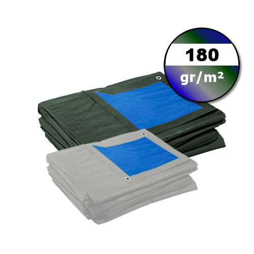 Dekzeil 180gr | Blauw-Groen | Grijs-Blauw