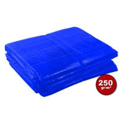 Blauw afdekzeil 250gr | Afdekproducten.nl