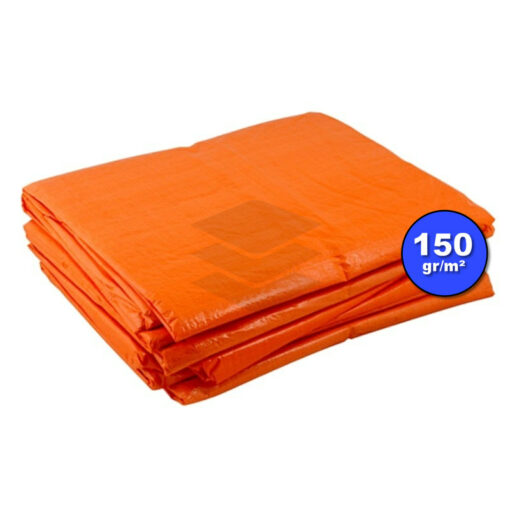 Oranje afdekzeil 150gr | Afdekproducten.nl