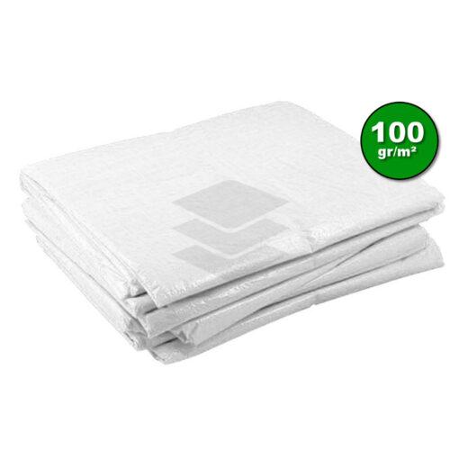 Wit afdekzeil 100gr   Afdekproducten.nl