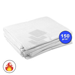 Wit afdekzeil 150gr | NVO Brandvertragend | Afdekproducten.nl