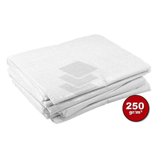 Wit afdekzeil 250gr   Afdekproducten.nl
