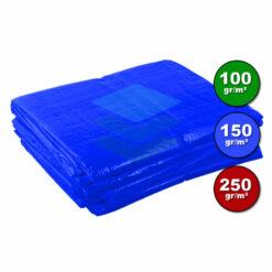 Blauw dekzeil