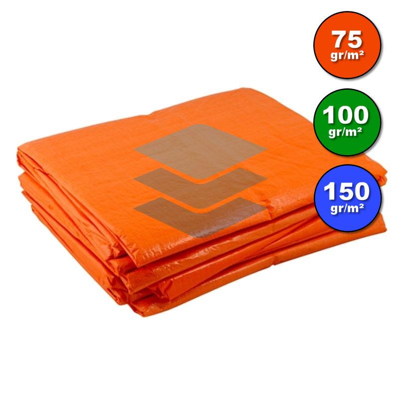 Dekzeil oranje - Afdekproducten.nl
