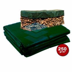 Groen afdekzeil 250gr Brandhout | Afdekproducten.nl