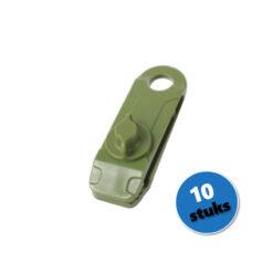 Zeilclip zeilklem afdekzeil bevestigingsclip groen 10 stuks