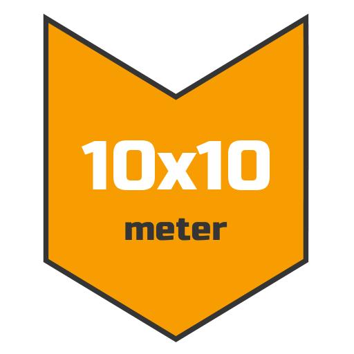 10x10m afdekzeil | Afdekproducten.nl