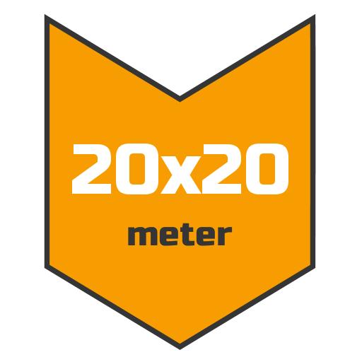 20x20m afdekzeil | Afdekproducten.nl