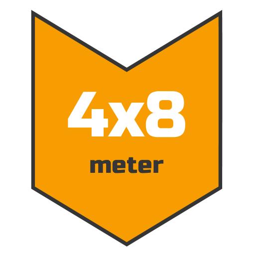 4x8m afdekzeil | Afdekproducten.nl