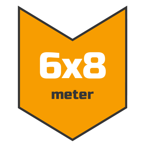 6x8m afdekzeil | Afdekproducten.nl