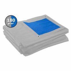 Grijs blauw afdekzeil 180gr | Afdekproducten.nl