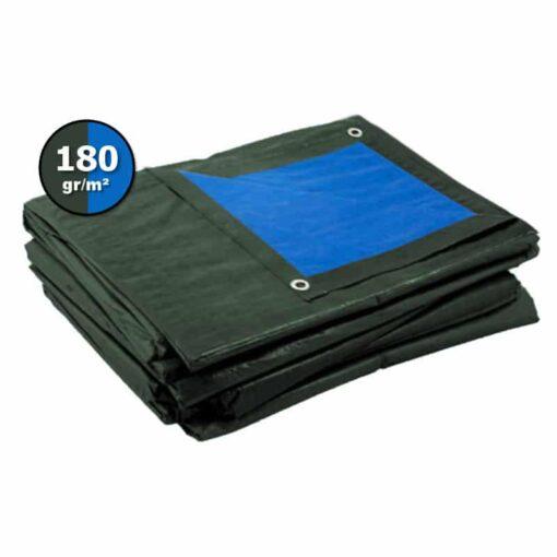 Groen blauw afdekzeil 180gr   Afdekproducten.nl