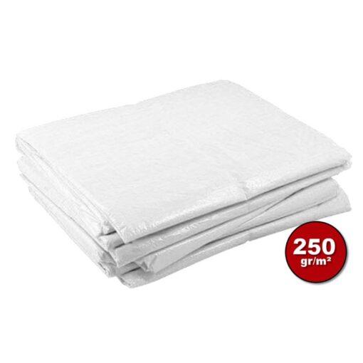Wit afdekzeil 250gr | Afdekproducten.nl