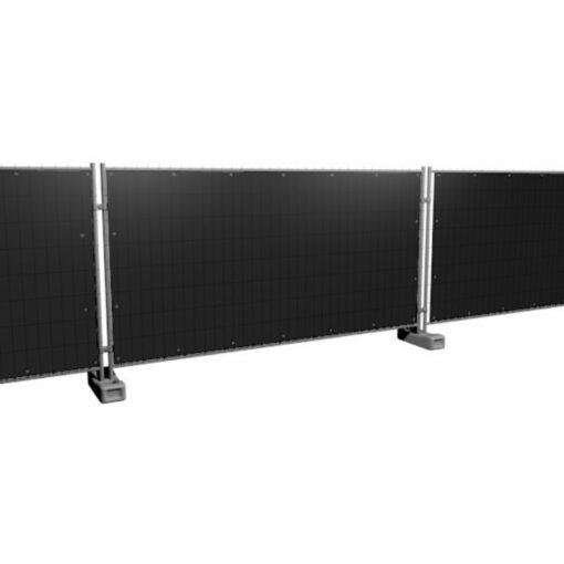 Bouwhekzeilen, bouwhekdoek, bouwhekzeil, 1.76x3.41m, kleur zwart
