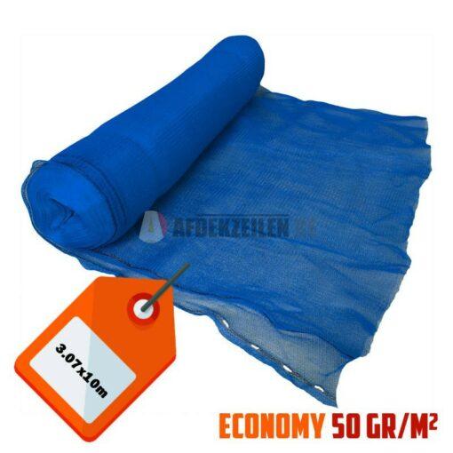 Blauw steigernet 3.07x10m 50gr/m²