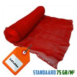Rood steigernet 2.57x50m 75gr/m²